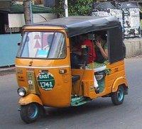 An Indian autorickshaw