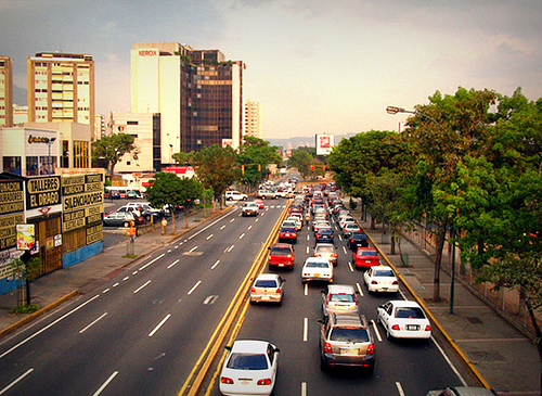 Subsidizing traffic: A street in Caracas, Venezuela.  Photo by nicholaslaughlin from Flickr.