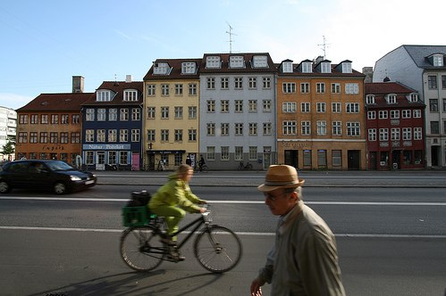 Biking and walking in Copenhagen. Photo by Stig Nygaard.