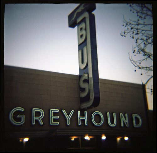A much cooler Greyhound station than D.C.s. Photo by Lee Otis.