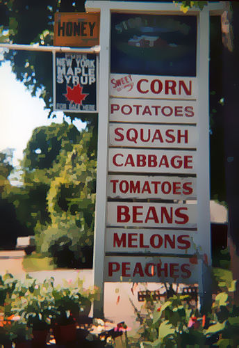 Summer farm stand. Photo by Catskills Grrl.
