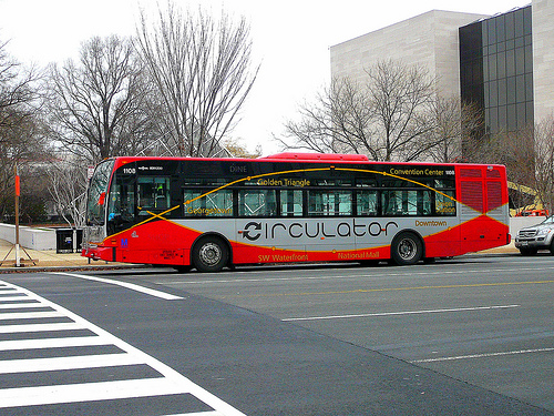 The D.C. Circulator feels the pain of service cuts. Photo by krossbow.