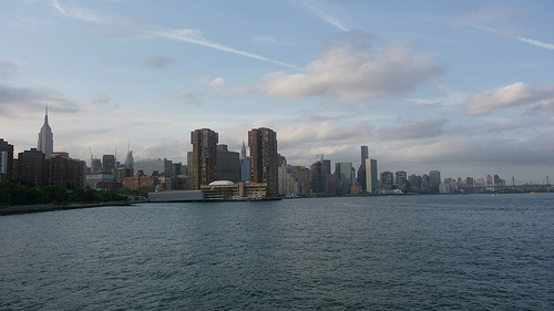 A view from the East River. Photo by Ensie.