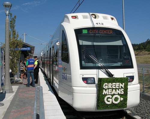 Portland's TriMet opened its MAX Green Line this September. Photo by sam_churchill.