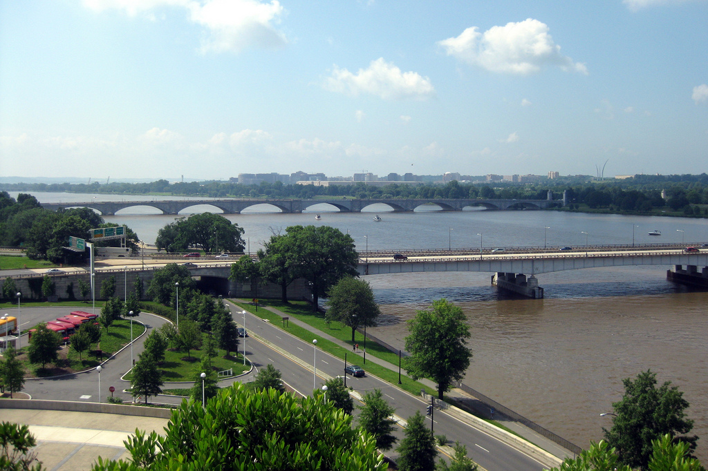 The Theodore Roosevelt Bridge (near) is one of the areas designated for priority bus improvements funded by TIGER grant money.  Photo: wallyg, flickr.