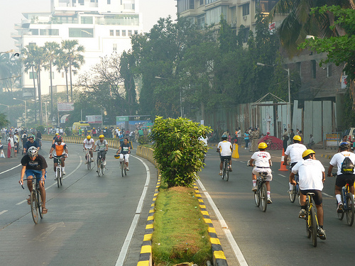 There is great potential in the city to create more robust cycling infrastructure. Photo by Madhav Pai.