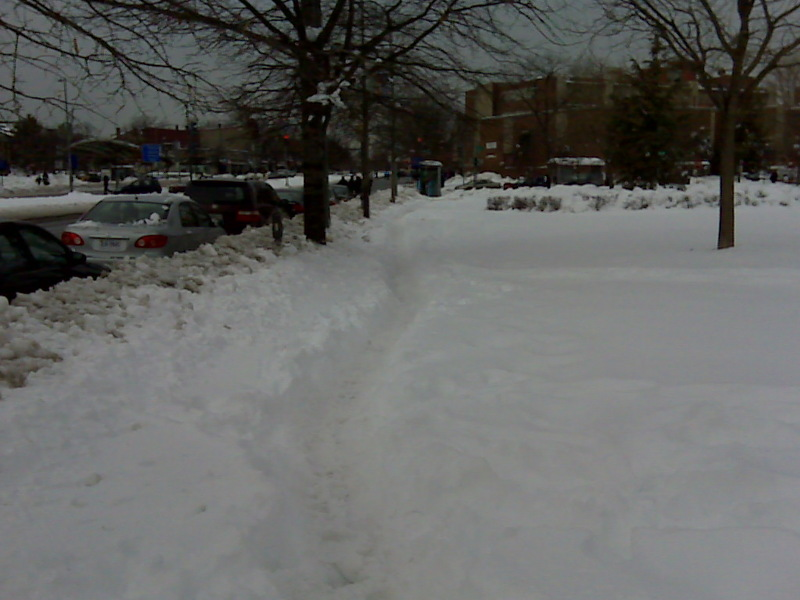 Photo submitted by  Julia Robey Christian on SeeClickFix, one of the many online tools that has helped mobilize D.C. residents to clear the snow left over from last week's blizzard.