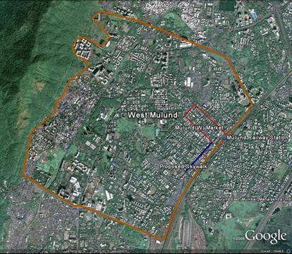 West Mulund, Mumbai, India. Image via Google.