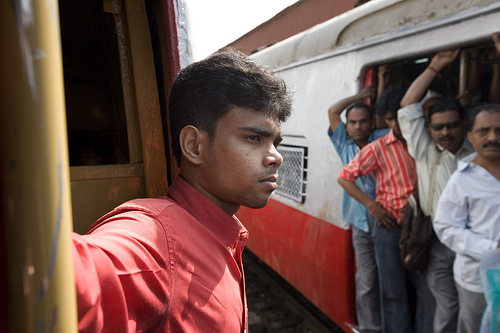 Mumbai's trains are at maximum capacity, and the motormen are feeling the sqeeze. Photo by babasteve.