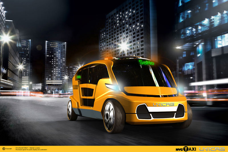 Is this the future of taxicabs? Photo via taxioftomorrow.com