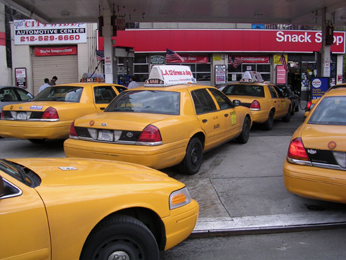 Need a cab in NYC? With Weeels, you can reduce personal fuel consumption - and save money! - by finding people to share your ride. Photo via digital_freak.
