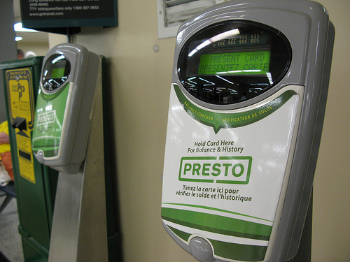 Toronto is in the middle of a hot debate to change the electronic fare system to an open system. Photo by wyliepoon.