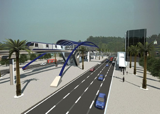 Artist's rendition of the monorail that Sao Paulo plans to complete by early 2013. Image via portaldatransparencia.gov.br.