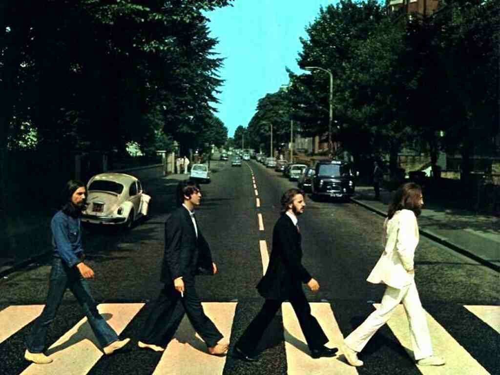 The world's most famous zebra crossing, at Abbey Road. The photo doesn't show the beacons at either end. Image via gameslatest.com.