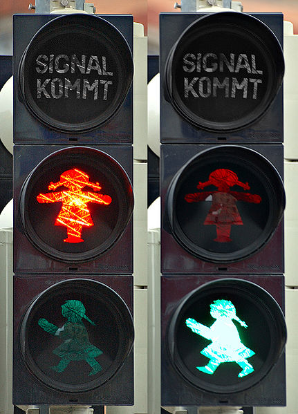 East German women on signals in the former GDR. Photo via Wikimedia Commons.