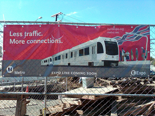 West Los Angeles has become infamous for its traffic. Now, the Westside is finally getting a new light rail, which will connect downtown L.A. to the Pacific Ocean. Photo by jwalker64.