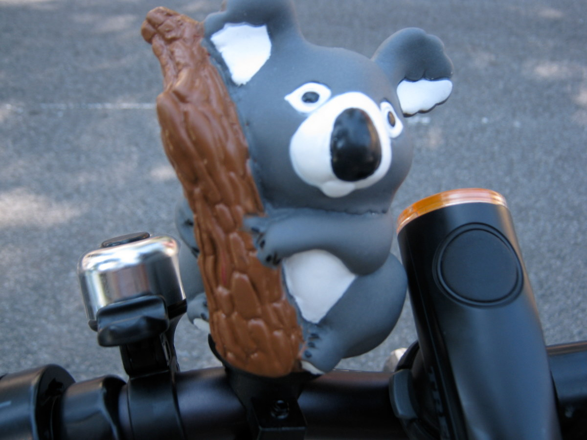 I'm counting on my new Koala Bear Bike Horn to make sure people get out of my way in NYC.