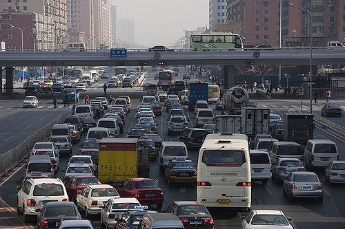 IBM's 2010 Global Commuter Pain Study rated Beijing's commute the world's most painful. Photo via poeloq.