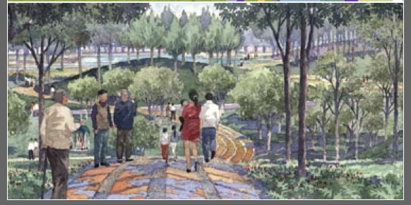 Another rendering of Jiading Park by Sasaki.