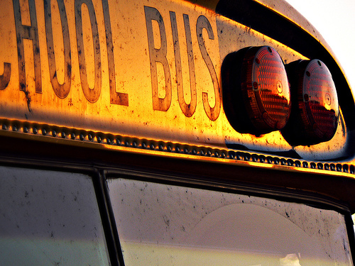 U.S. Transportation Secretary is encouraging students to ditch the car and take the school bus. Photo by Doug Wilson