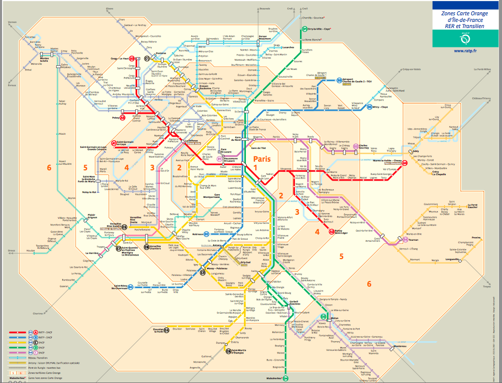 An image of Paris' transit map.