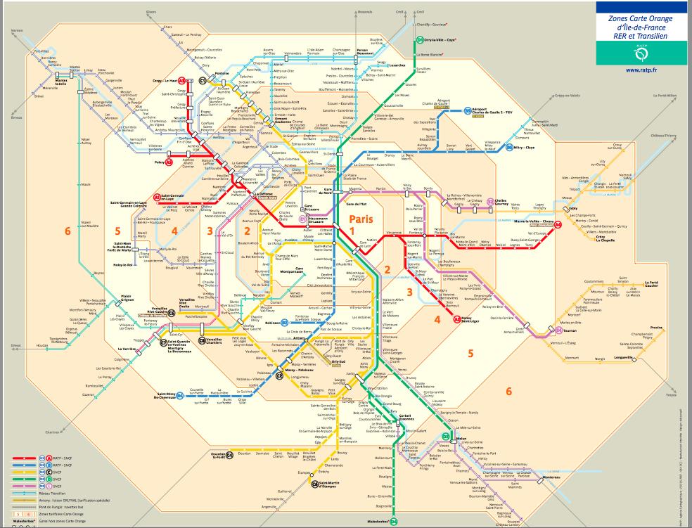 An image of Paris' transit map.