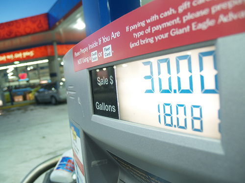 How much is your vehicle costing you at the pump? Photo by Sanford Kearns.