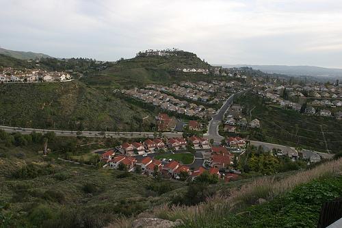 Paradigmatic surburbia: Santa Ana of Orange County, California. Photo by