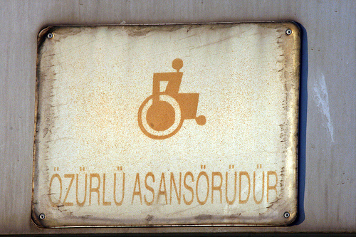 A sign for the special olympics in Turkey.