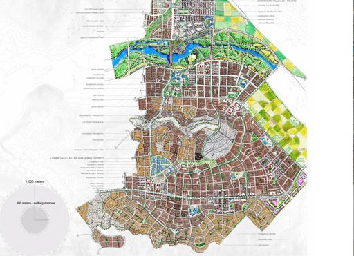 An image of the Valle San Pedro's master plan.