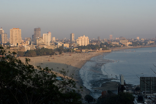 The coast of Mumbai. India is a country with a number of large cities that would be severely impacted by climate change. Photo by Owen.