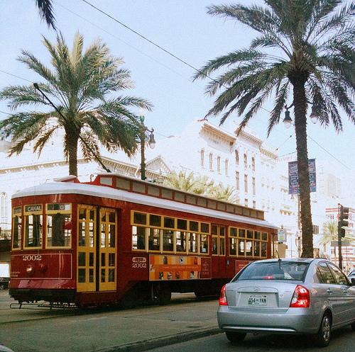New Orleans' streetcar. Photo by Jason Layne.