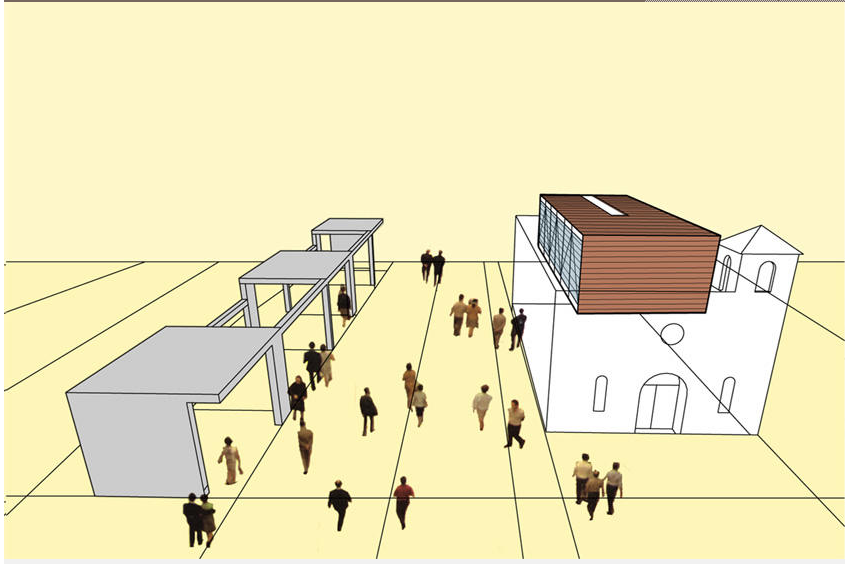 "Rendering of ""Living Rooms at the Border."" Image by Teddy Cruz."