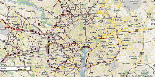 Bad D.C. traffic. Image by thecourtyard.