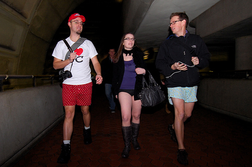 Image from the No Pants 2011 ride in Washington, DC on January 9. Photo by M.V. Jantzen.