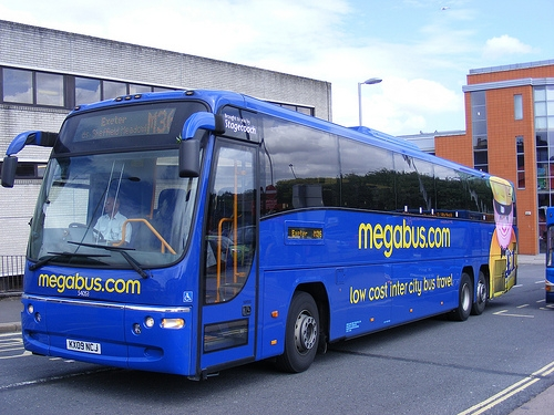 The Megabus intercity bus brand has even expanded internationally. Photo by Andrew Harvey-Adams.