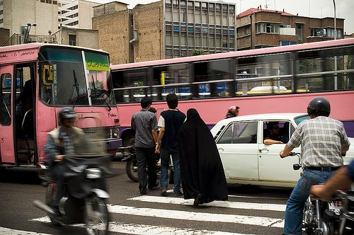 Tehran has implemented an extensive bus rapid transit system in the past year. Photo by looking4poetry.