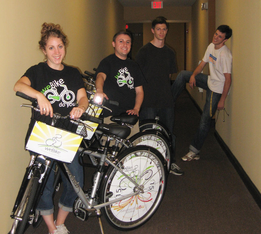 Webike creators pose with their bikes. Photo credit: weBike