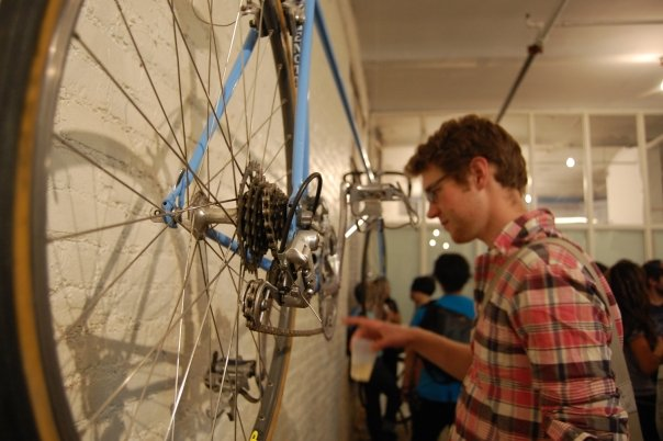 Brook Schaffer enjoys the Bike Film Festival in New York City back in summer of 2008. Photo by Jonna McKone.