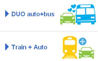Communauto promotes car-sharing as part of a public transport network.