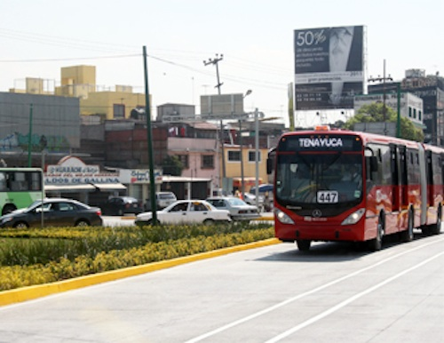 Metrobus Line 3 begins operations. Photo via CTS-México.