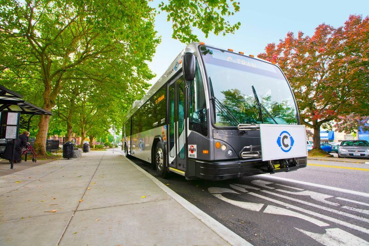 C-Tran's proposed bus rapid transit project would provide opportunities for economic revitalization by connecting neighboring cities. Photo via C-Tran.