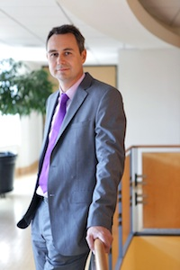 Holger Dalkmann assumes his new role as Director of EMBARQ. Photo by Dave K. Cooper.