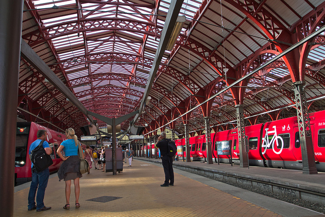 Copenhagen, Denmark is often cited as a sustainable city. Photo of Copenhagen's Central Station by Frank Schmidt.