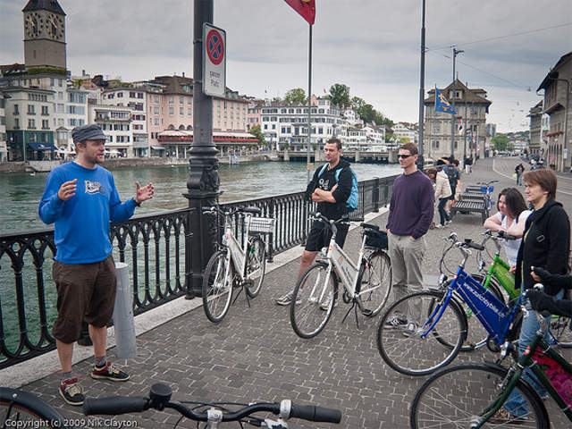 Touring by bicycle in Zurich, Switzerland. By nik.clayton.