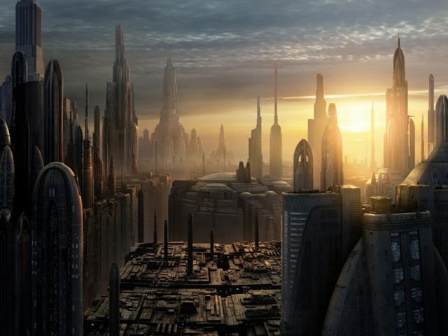 The Galactic City at sunset. Photo courtesy of Wookieepedia.