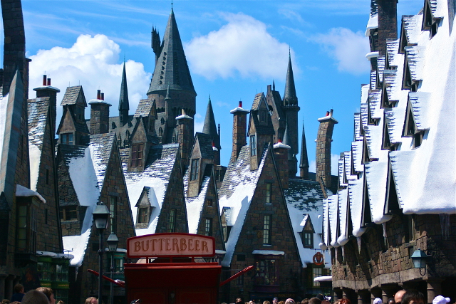 Hogsmeade at Harry Potter World.