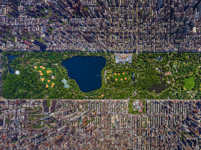 Central Park from above.