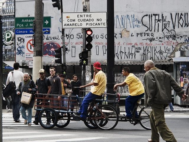 Crosswalk in São Paulo