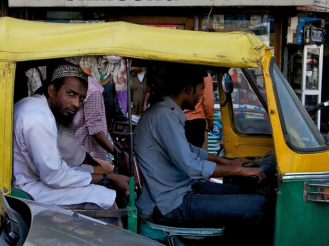 Old Delhi auto-rickshaw. Photo by Larry Johnson.
